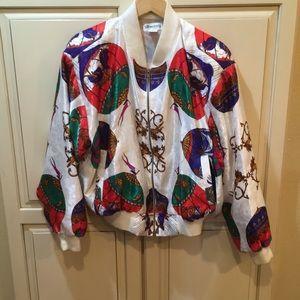 Other - Vintage silk bomber windbreaker jacket pattern
